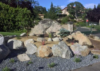 Boulder Retaining Wall - After 2